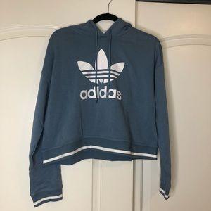 NWT Adidas Icon Cropped Hoodie